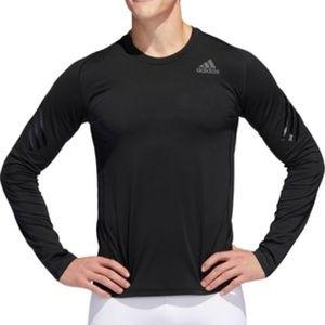 Adidas Alphaskin Long Sleeve Shirt Mens M Black